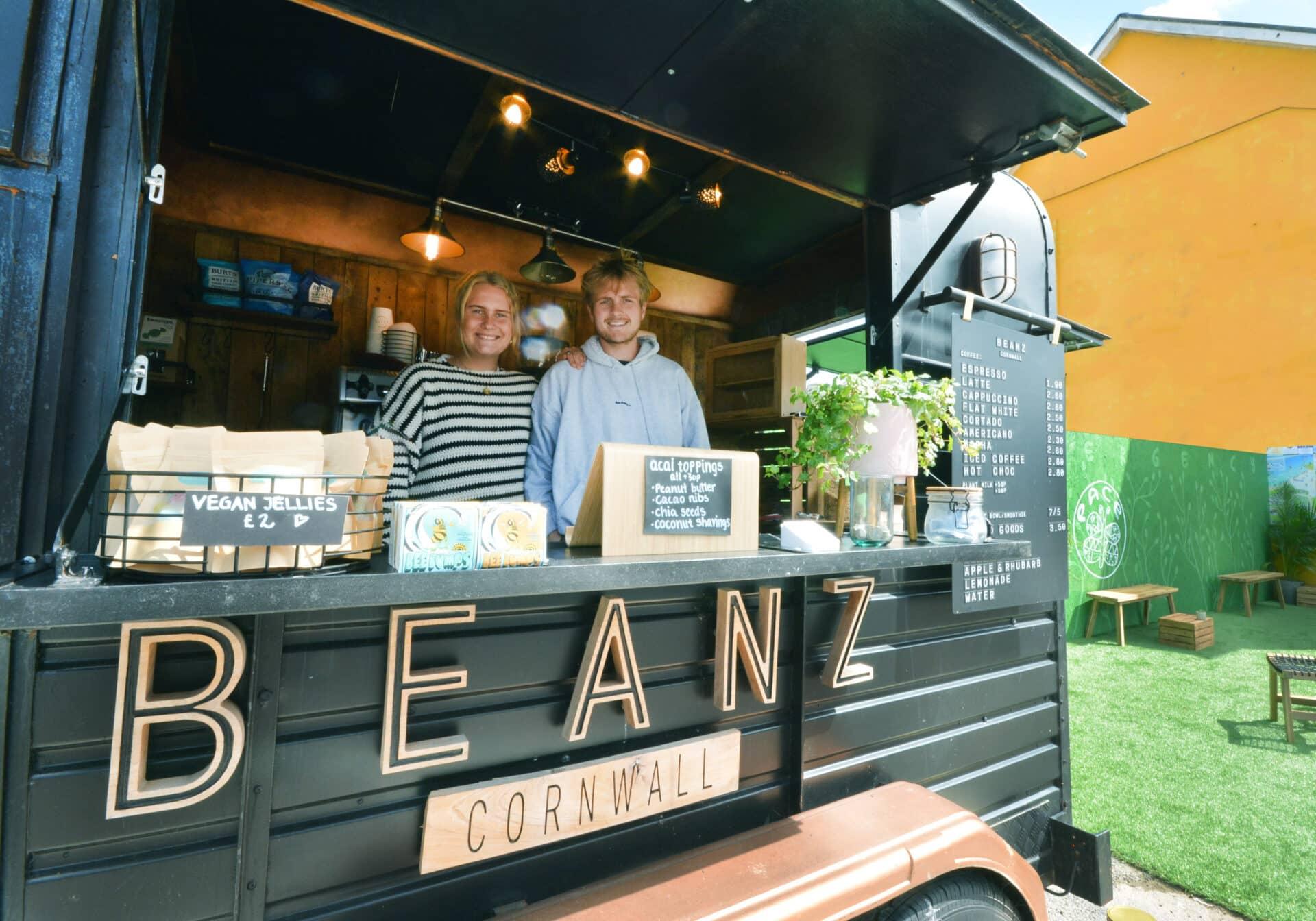 Beanz coffee Perranporth Cornwall