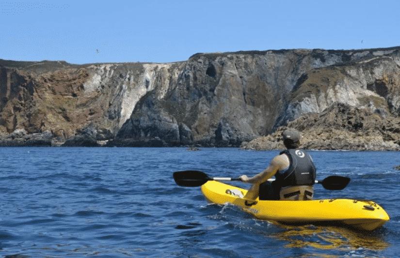 kayaking the cornish coast